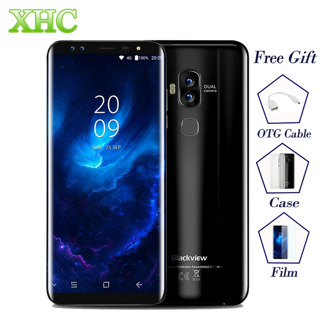 4G LTE Blackview S8 5.7'' 18:9 HD Screen Smartphones RAM 4GB ROM 64GB MT6750T Octa Core 13MP 1440*720 Fingerprint OTG Cellphones