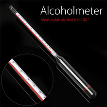 For Distiller Alcohol Hydrometer Alcoholmeter Set 0 to 100% Wine Meter Tester Alcohol Meter AlcoholMeter With Hydrothermograph(China)