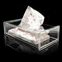 Moderno Acrilico Trasparente Bagno Distributore di Carta Facciale Box Cover/Decorativo Napkin Holder