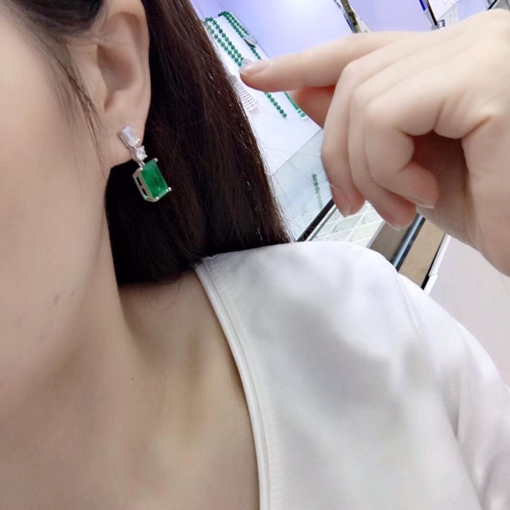 Nouvelles boucles d'oreilles Rectangle boucles d'oreilles S925 argent incrusté Zircon élégant et irrégulier ventes directes d'usine