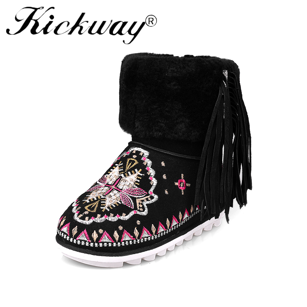 Women Snow Boots Winter Women Boots Cow Suede Shearling Real Fur Warm Mid Calf Ethnic Style Snow Boots Mother Shoes WomanWomen Snow Boots Winter Women Boots Cow Suede Shearling Real Fur Warm Mid Calf Ethnic Style Snow Boots Mother Shoes Woman
