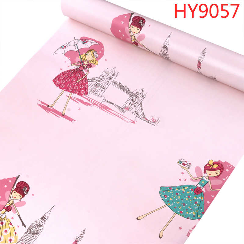 papel de parede Kid's wallpaper bedroom girl boy room nordic style cute design korean cartoon waterproof wall sticker