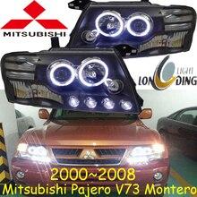 مصد سيارة كشافات باجيرو العلوي V73 مونتيرو 2000 ~ 2008y LED DRL اكسسوارات السيارات HID زينون باجيرو النهار الخفيف الضباب