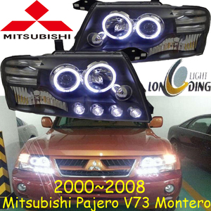 Image 1 - car bumper headlamp Pajero headlight V73 Montero 2000~2008y LED DRL car accessories HID xenon Pajero daytime light fog