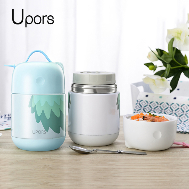 US $19 92 35% OFF|UPORS 700ML Double Wall Stainless Steel Thermo Adult  Lunch Box Containers School Student Large Food Bento Box -in Lunch Boxes  from