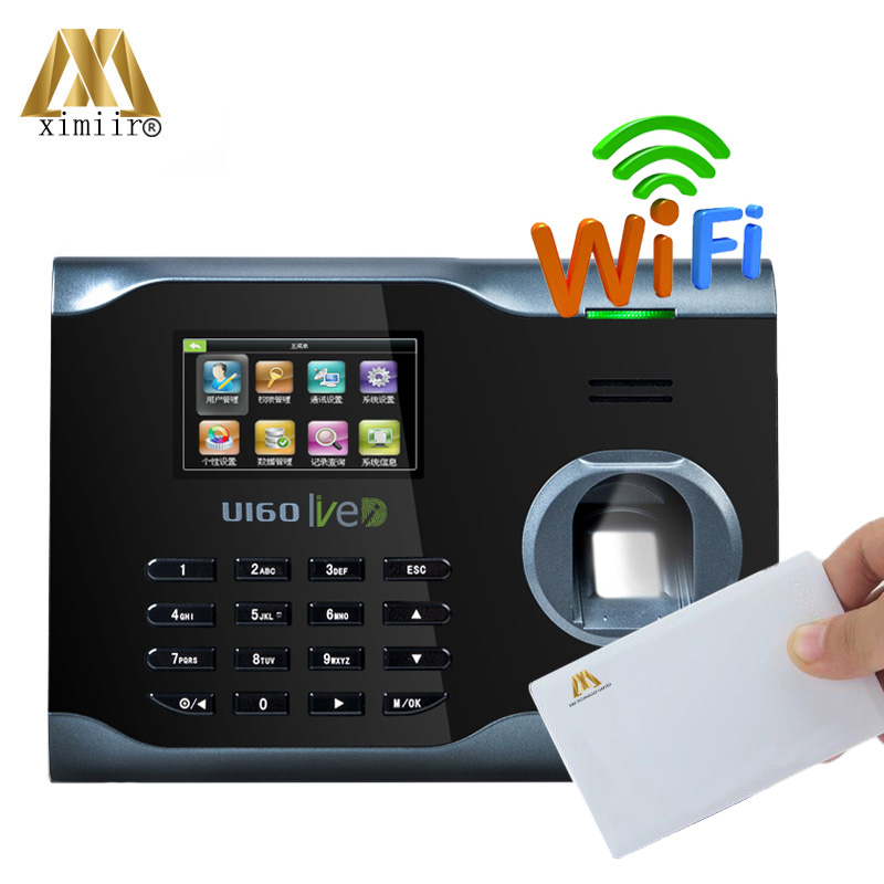 Popular Business Time Recorder Fingerprint Time Attendance System WIFI Network U160 MF Card Fingerprint Time Attendance