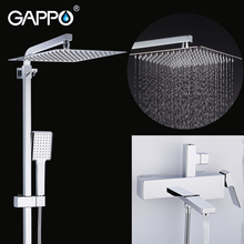 GAPPO shower faucet set  bathroom rain shower system bathtub faucets shower mixer tap Bath waterfall shower head mixer torneira цена в Москве и Питере