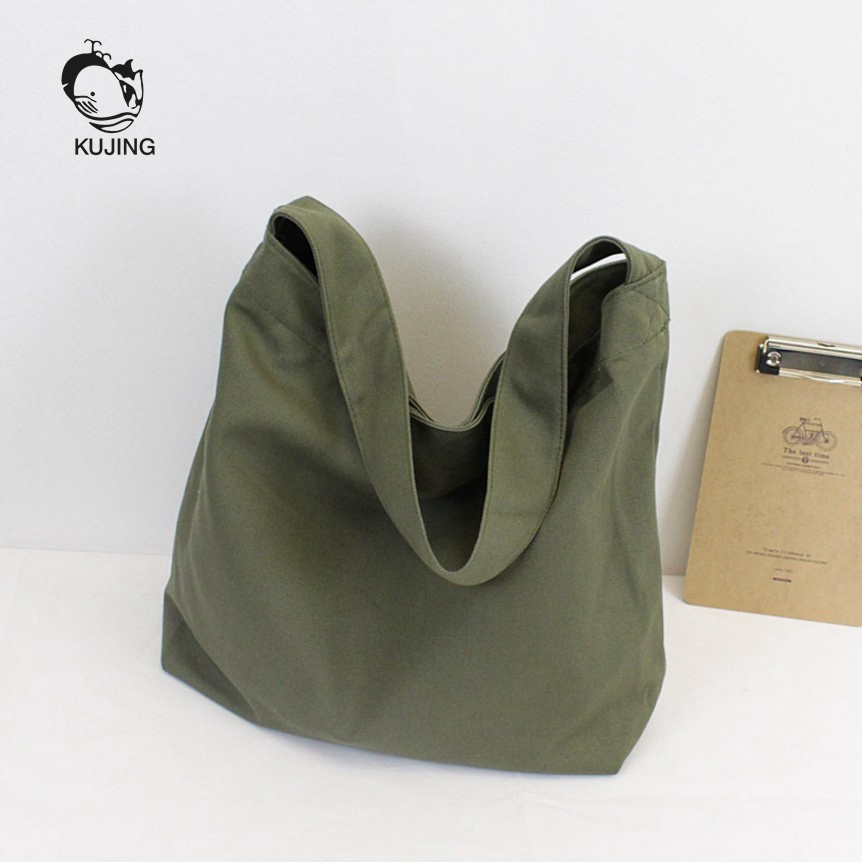 KUJING Fashion Handbags Handicrafts Pure Color Ladies Canvas Bags Hot Casual Women Shoulder Bags High Quality Women Shopping Bag free shipping casual canvas shopping bags black color with fish pattern shoulder bags shopping bag handbags e08