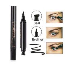 цены на PHOERA Double-Headed Triangle Seal Black Eyeliner Eyeliner Pen 2-in-1 Waterproof Stamp Eyeliner  в интернет-магазинах
