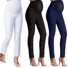 New High Quality Pregnant Women Capris Casual Trousers Work Office Over Bump Pants Wear