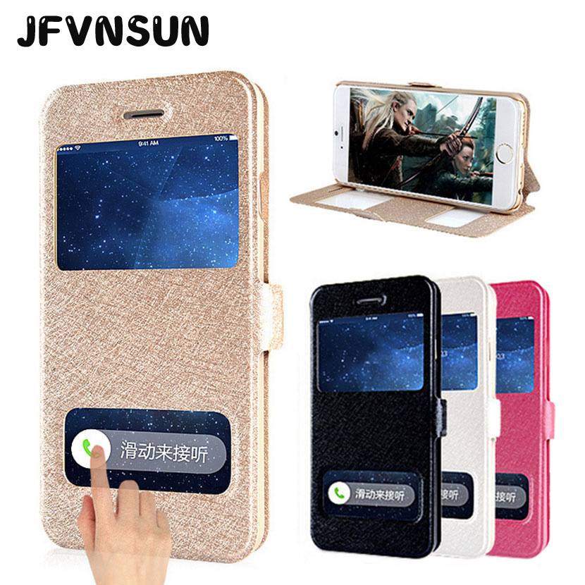 For iPhone 7 8 6S Plus SE 5 5S Case for iPhone 6 6s 8 7 Plus SE 5S &4S Fashion Window View Leather Flip Cover Stand Phone Bag