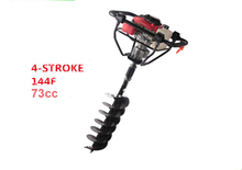 Powerful engine 4 strokes 144F Engine Gasoline Ground Drill Earth Auger for drilling hole well drilling