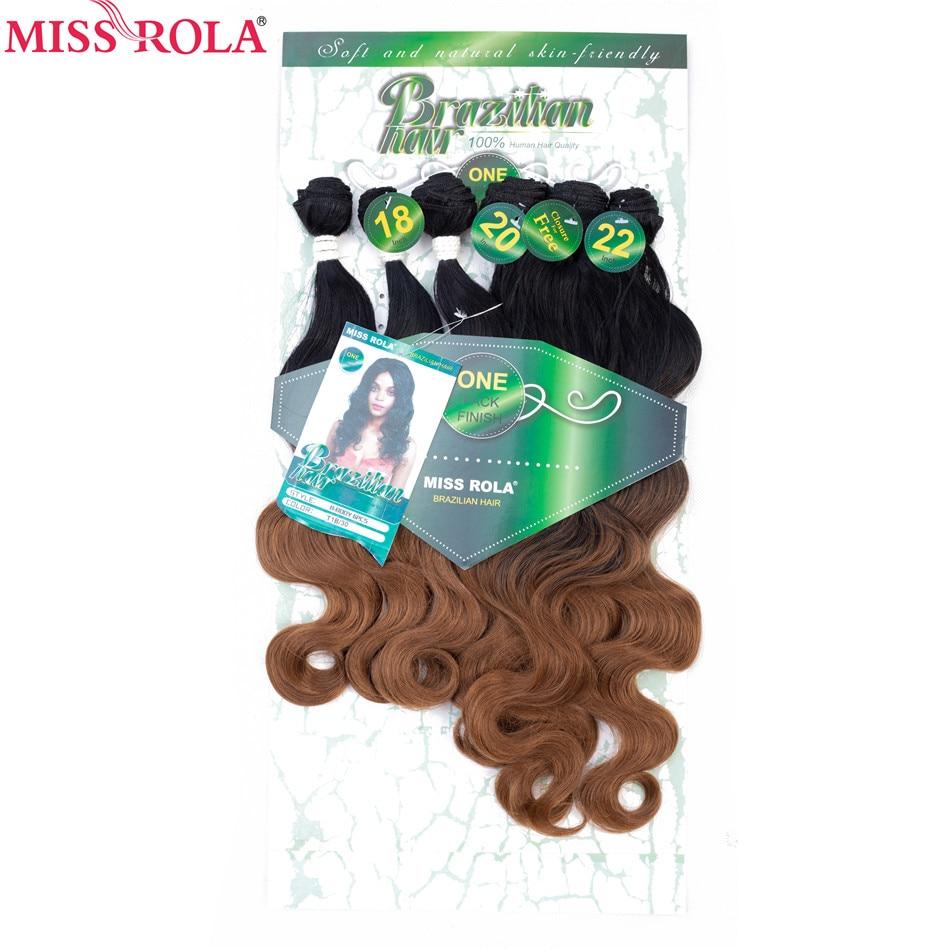 Miss Rola Ombre пряди волос, синтетические волосы для наращивания, волнистые пряди для наращивания, 6 шт., 18-22 дюйма, пряди волос с бесплатным закрыт...