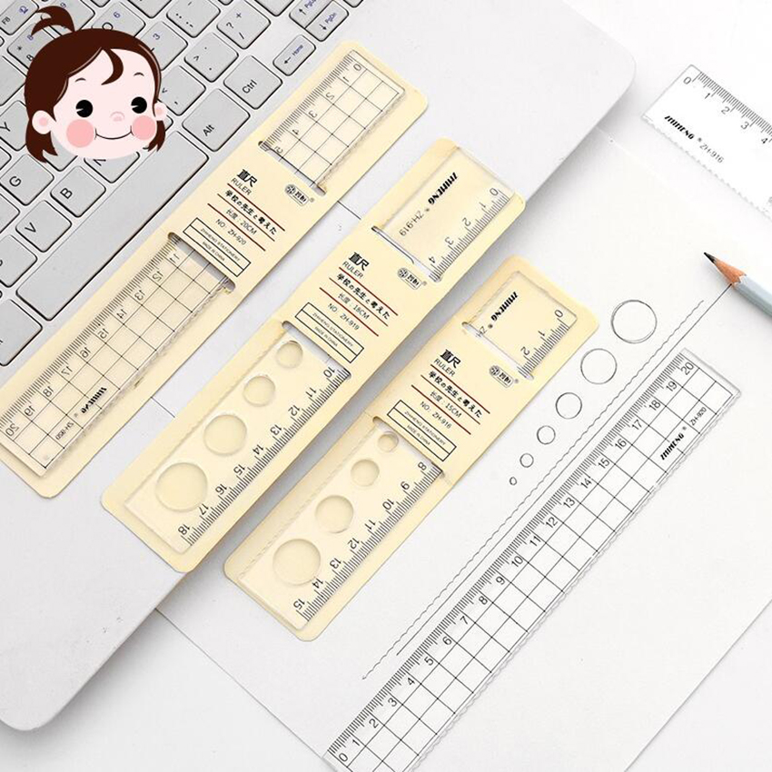 15/18/20cm Candy-colored Plastic Ruler Measuring Straight Creative Model Ruler Tool Promotional Gift Stationery Student Prize