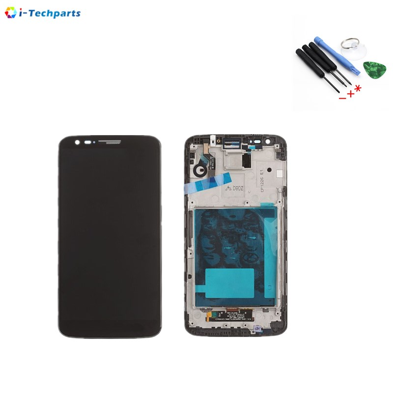 Original New For LG G2 D800 D802 LCD Display + Touch Digitizer Screen with Frame Replacement, Black White батарейку на lg kg 800