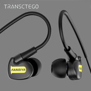 Image 1 - TRANSCTEGO sport wired Earphone running headphones sports universal wired earphones with mic 3.5mm jack standard stereo headset