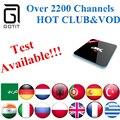 Potencia IPTV + S912 H96PRO Android 6.0 2 GB/16 GB 2.4G/5 GHz Árabe Francés Alemania países bajos Portugal Italiano Adultos xxx Europa IPTV