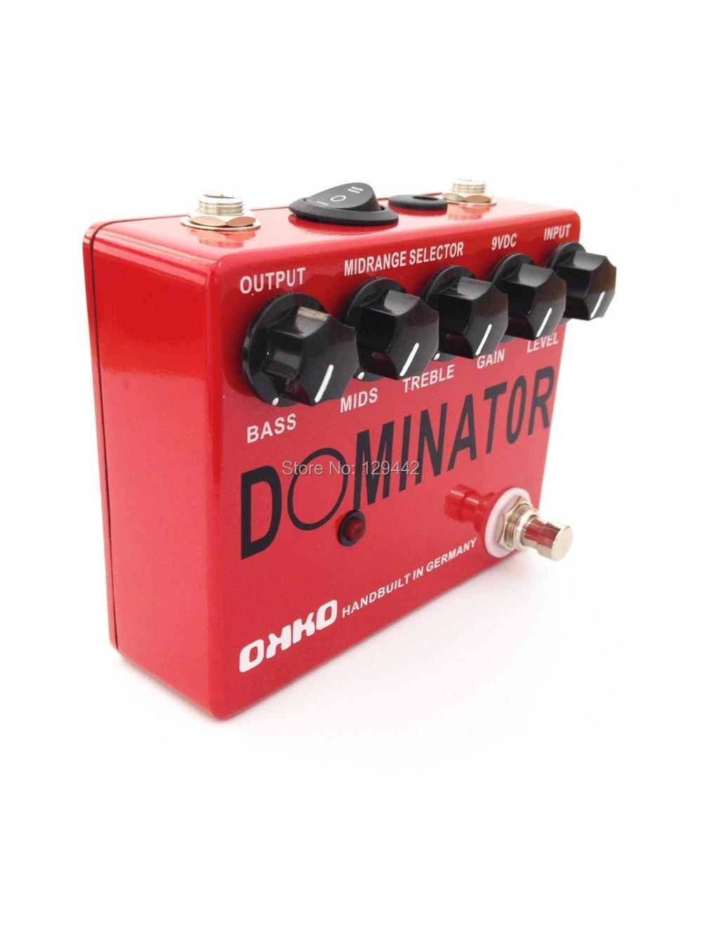 okko dominator powerfull dynamic high gain distortion guitar effect pedal guitar pedals new. Black Bedroom Furniture Sets. Home Design Ideas