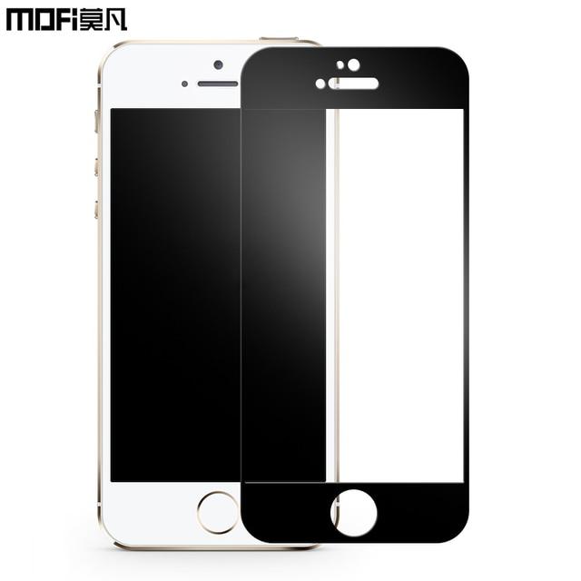 Mofi para iPhone 5S vidrio templado negro marco blanco de apple 5 SÍ ...