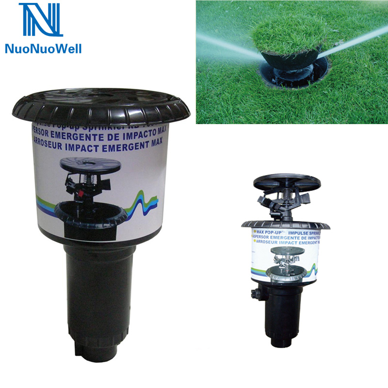NuoNuoWell 1pcs Pop-up Sprinkler Impact Nozzle 1/2''+3/4'' Internal Thread Plastic Landscape Lawn Irrigation Impulse Sprinkler