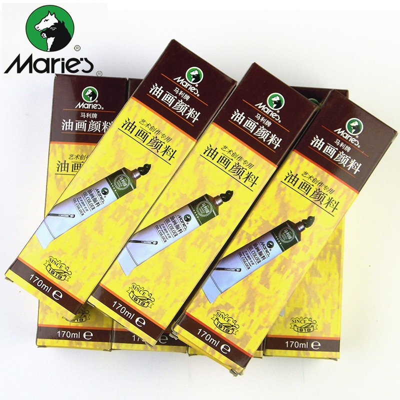 Mare's Professional Fine Oil Paints Canvas For Artist 170ML Each Tube High Quality Oil Painting Pigments Art supplies All Colors jack richeson 37 ml artist oil colors turquoise