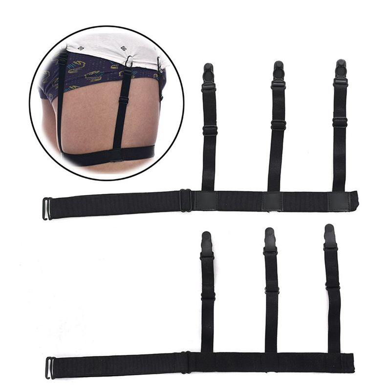 2pcs/Pair Mens Shirt Stays Garters Elastic Adjustable Hidden Suspenders Sexy Unisex Comfortable Nylon Suspenders GYR9122