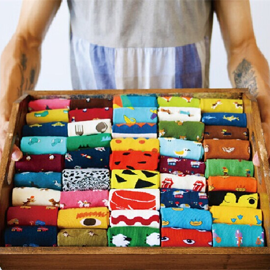 Size Lovely Daily Animal Weel Socks Watermelon Dachshund Beagle Lion Farm Bull Terrier Elephant Fox Pill Fruit Dog Combo