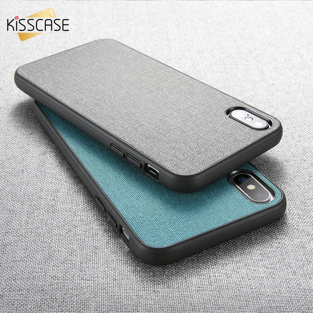 KISSCASE Original Leather Cloth Phone Case For Motorola Moto G6 play Solid Color Simple Case For Motorola G6 Plus Play Capinha in Fitted Cases from Cellphones Telecommunications