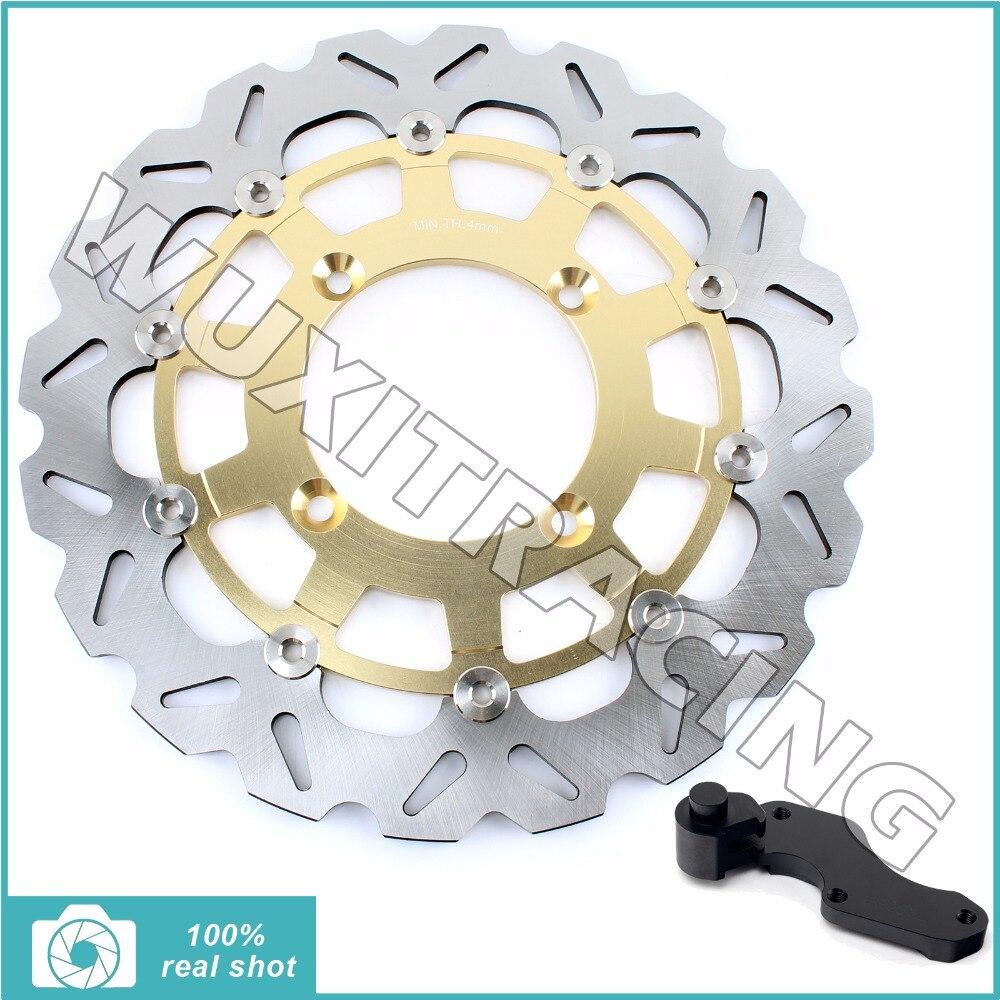 Oversize 320MM Front Brake Disc Rotor Bracket Adaptor for KAWASAKI KX125 KX250 06-08 KX250F KX450F 06-17 09 10 11 KLX450R 07-12