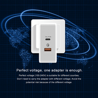 T phox for Xiaomi Mi USB C Charger 48W Max Smart Output Type C Port USB PD 2.0 Quick Charge QC 3.0 with USB C to USB C Cable
