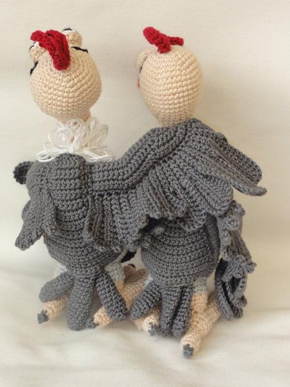 Amigurumi crochet buzzie el buitre juguete muñeca Rattle en ...