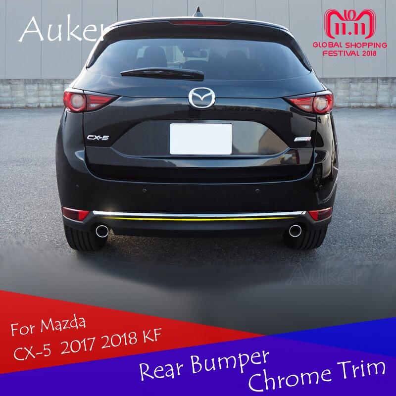 עבור מאזדה CX-5 CX5 2017 2018 KF רכב אחורי דלת כפתור לקצץ זנב פגוש רצועת מדבקות לקישוט חיצוני רכב סטיילינג