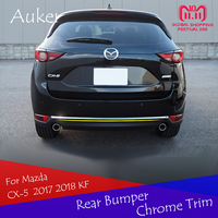For Mazda CX 5 CX5 2017 2018 KF Car Rear Door Button Trim Tail Bumper Strip Stickers External Garnish Car Styling