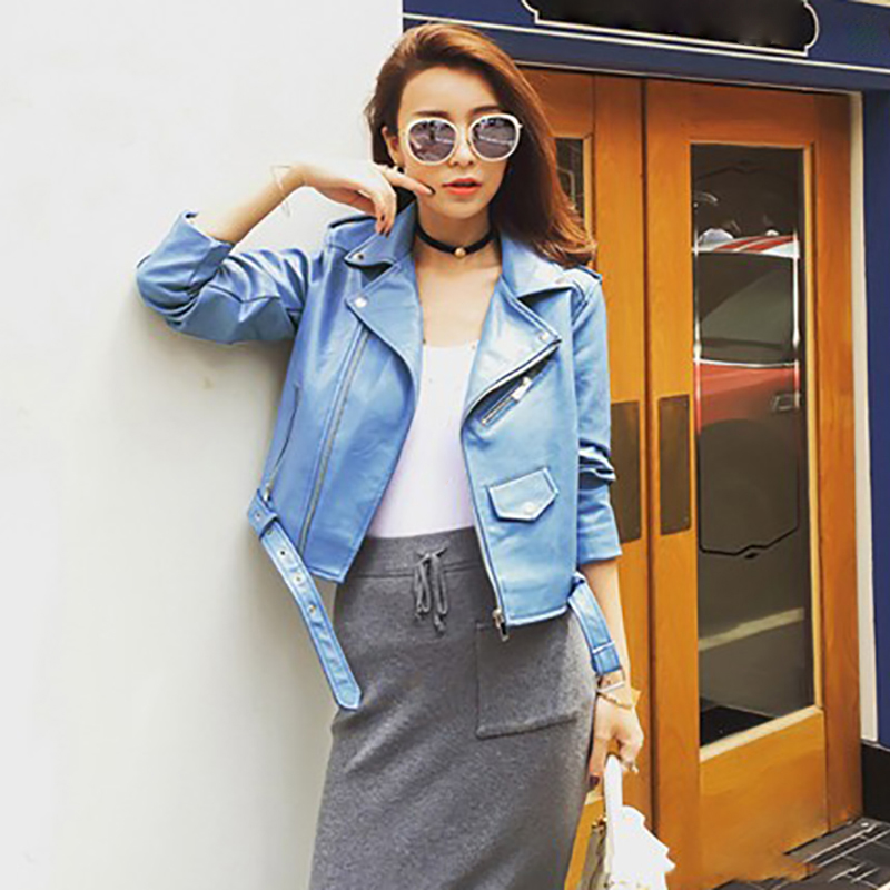 Motorcycle PU Leather   Jacket   Women Ladies   Basic   Street Coat Plus Size Autumn New Short Faux Soft Leather Fashion Zipper   Jacket