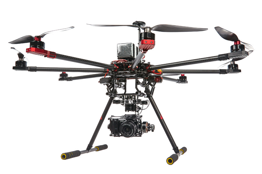 SkyhawkRC F900 RC Carbon fiber Octocopter frame kit with retractable ...