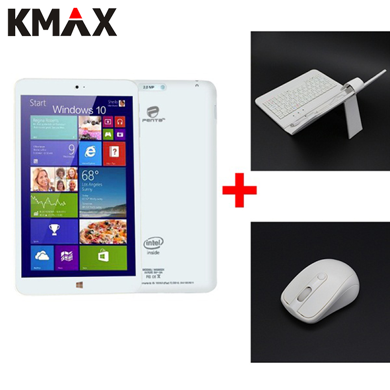 KMAX Tablet 8 inch IPS Quad Core for Intel CPU 3735G Tablette Windows 10 Tablets PC BT Dual Cameras Include Keyboard and Mouse free shipping 3g tablet pc windows 8 1 tablet pc 10 1inch multi touch tablet quad core g sensor laptop intel cpu tablet pc