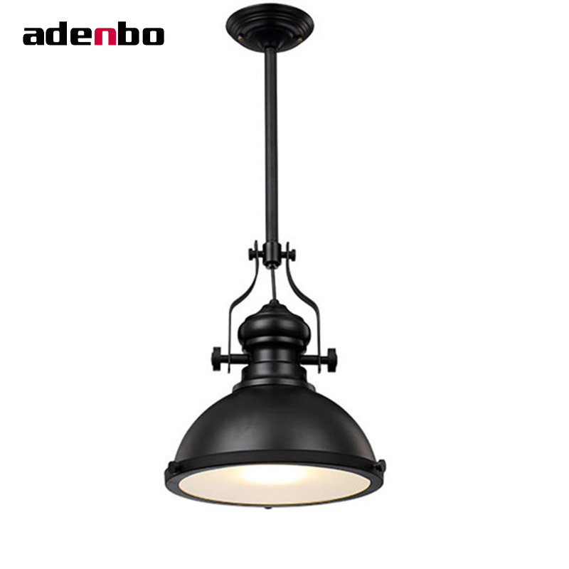Creative Loft Industrial Pendant Lights Black Vintage Hanging Lamp E27 Retro Lamps For Dining Room Restaurant Bar Lighting IP014 new loft vintage iron pendant light industrial lighting glass guard design bar cafe restaurant cage pendant lamp hanging lights