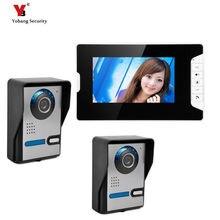 "Yobang Security freeship 7 ""Video Color Monitor Video Door Phone The Doorbell Video Intercom Doorbell Night Vision two Camera"