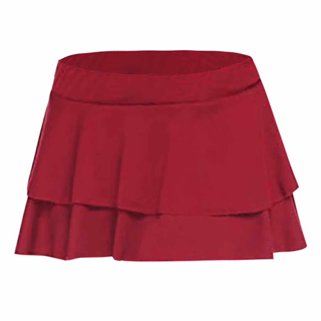 مثير منخفضة مخصر تنورة إمرأة بلون كشكش مصغرة تنورة الصيف نادي الفتيات حزب التنانير الإناث Saias 5 #