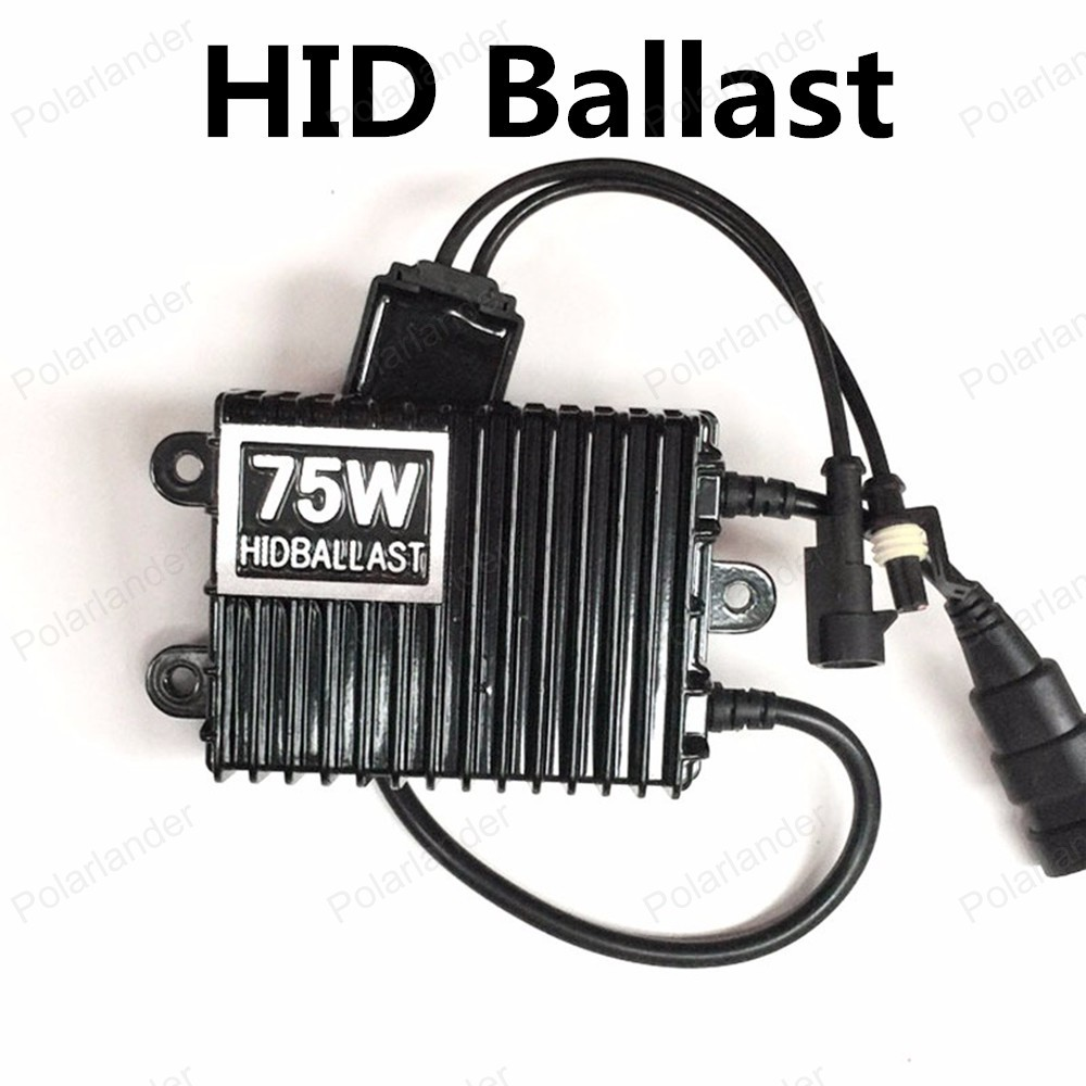 ФОТО Polarlander 2pcs Hot Sale AC 12V for Xenon HID Kit H1 H3 H7 H8 H9 H10 H11 9005 9006HID Slim Ballast 75W
