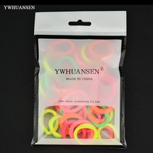 YWHUANSEN 40pcs/lot Hair Accessories for girls Scrunchies Elastic Hair Bands children decorations Headdress Gum for hair ties