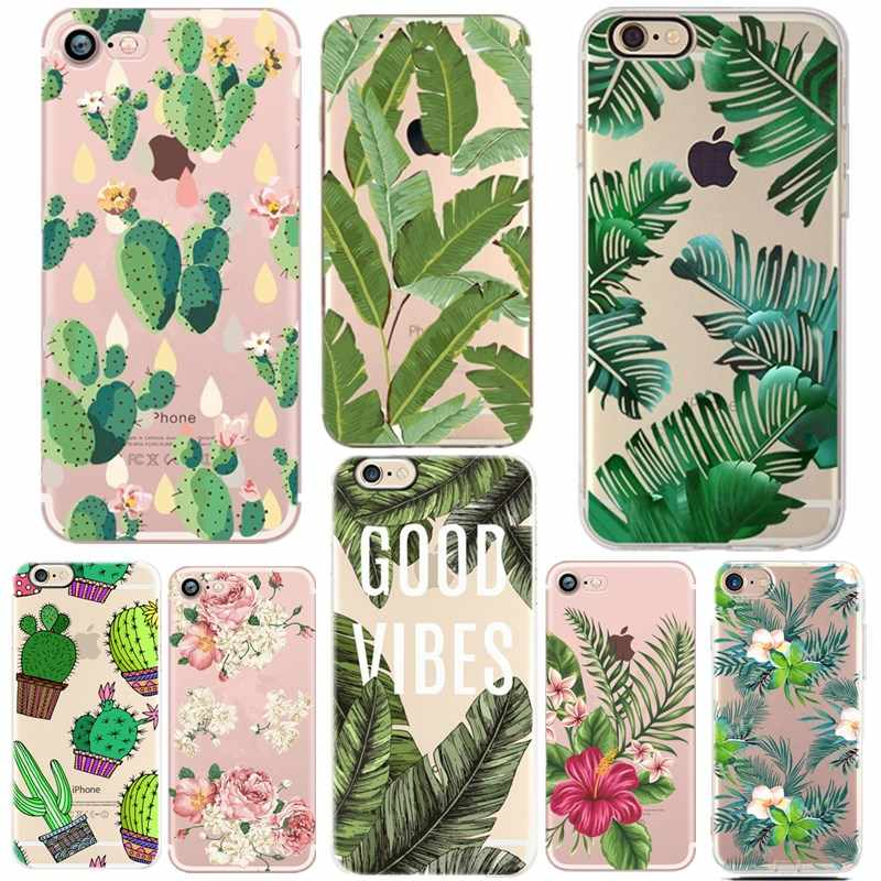 Lucky Leaves Case For iPhone 7 6 X XR XS Max Soft TPU Cover For iPhone 6 6s 7plus 8 8plus 5 5s se Capa ipone 6 s Capinha