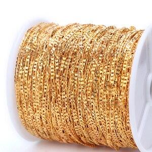 Image 5 - 1m Nail Art Alloy Metal Chains Gold 3D Charms Decoration Studs Spangles Punk Snake Bone Strass Manicure Jewelry Accessory JI780