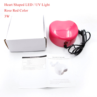 Belle Fille LED Nail Gel Dryer Heart Shape 24W White Color Curing Light With Bottom 30s