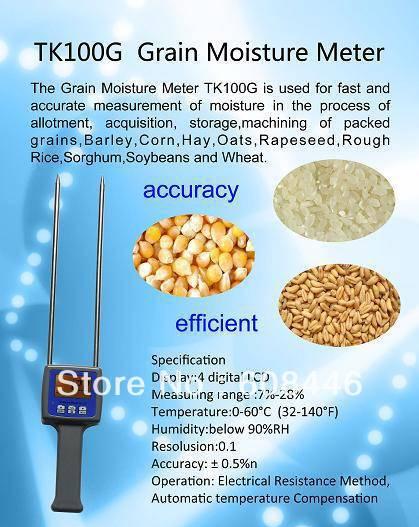 4 цифровой ЖК дисплей зерна Измеритель влажности тестер для ячменя кукуруза пшеница рис - 2