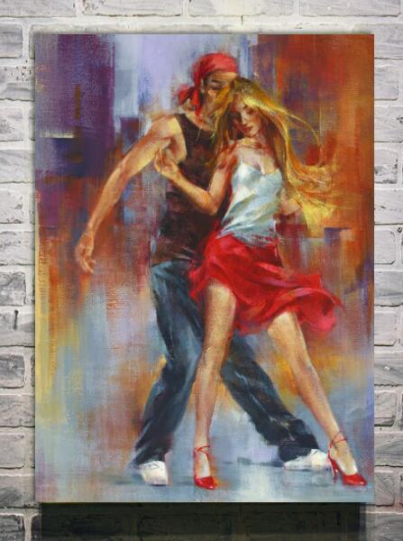 Spedizione gratuita bella pittura a olio 100% dipinto a mano ...