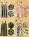 Summer New 2016 Fashion women Slim cotton sundresses dot suspenders floral printed dress casual tank dress Halter top 1-22colors