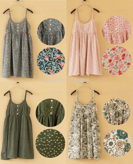 Verão 2016 Novas mulheres Da Moda vestidos de algodão Fino dot suspensórios vestido floral impresso casual dress tanque Halter top 1-22colors