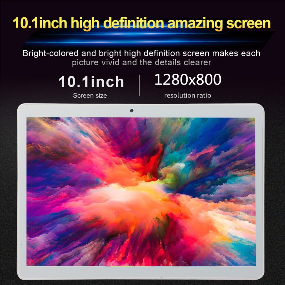 S109  10.1 Inch Tablet PC 3G Phone Call Android 7.0 Wi-Fi Bluetooth 4GB/32GB Octa Core Dual SIM WPS GPS PC + Film Case Keyboard