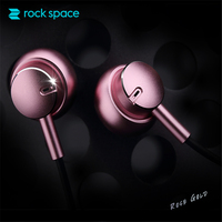 Stereo Earphone With Mic ROCKSPACE Mubow In Ear Headset Earbuds For Xiaomi 3 5mm Aux Noise